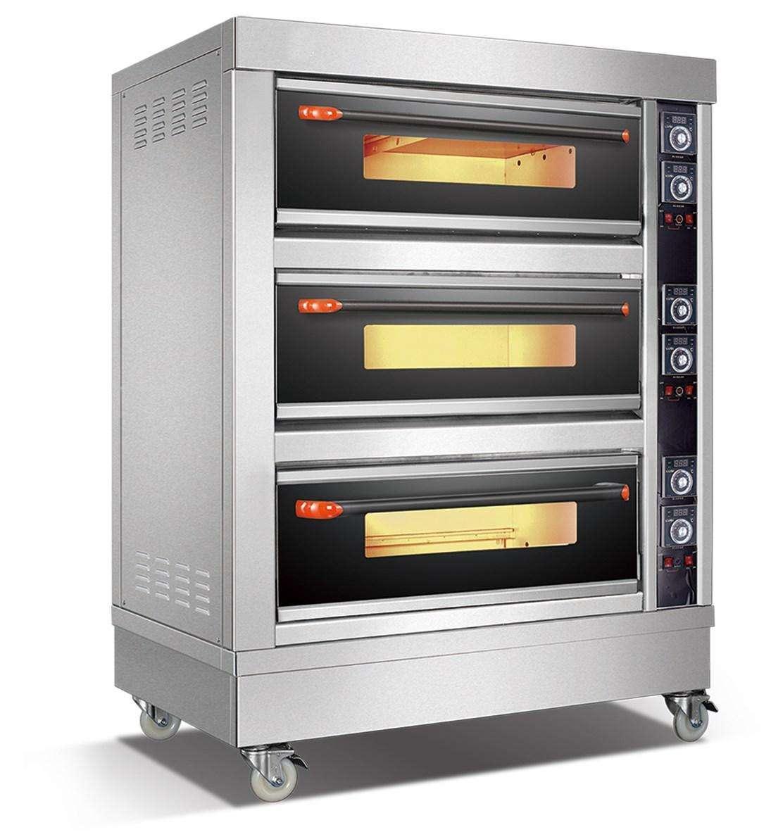 三层燃气烤箱